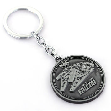 New design The Force Awakens Star wars keychain round coin metal keychain  Pendant Key Chain keyring for fans men Gift HF11235
