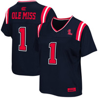 Ole Miss Rebels Women's Blitz Football Jersey - Navy Blue