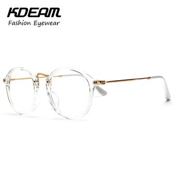 Stylish Vintage Transparent Glasses Frame Eyewear For Computer Eyeglasses Girl's Spectacles