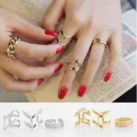 New Arrival Gift Jewelry Shiny Korean Hollow Out Stylish Decoration Ring [10392931284]
