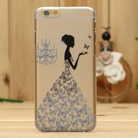 Iphone 6 Case,FEIKESI Iphone 6 Protective Case Soft Flexible TPU Transparent Skin Scratch-proof Case for Iphone 6 (4.7-inch)- Butterfuly Girl Pattern