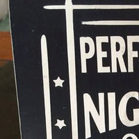 """Wood Sign: """"Performed Nightly The Welcome Home Doggie Dance"""""""