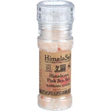 HimalaSalt Himalayan Pink Sea Salt Refillable Mini Grinder - 4 oz