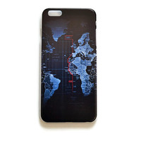 iPhone 6 Plus Case World Map iPhone 6 Plus Hard Case Night Map Back Cover For iPhone 6 Slim Design Case Navigation Map 129