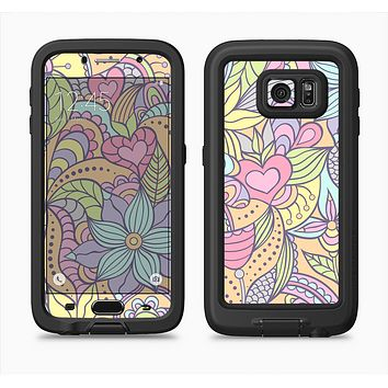 The Vibrant Color Floral Pattern Full Body Samsung Galaxy S6 LifeProof Fre Case Skin Kit