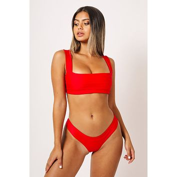 KAOHS Swimwear Hampton Top in Red