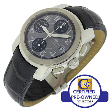 Baume Mercier Stainless Steel Capeland Grey Chronograph Watch MV045216