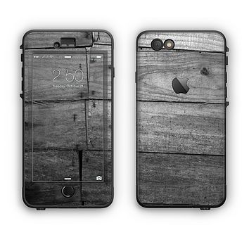 The Gray Worn Wooden Planks Apple iPhone 6 LifeProof Nuud Case Skin Set