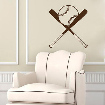Wall Decals Sport Baseball Ballplayer Ball Sports Game Baseball Bat Gym Interior Sporting Event Home Decor Vinyl Decal Sticker  ML133