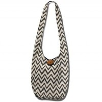 TOMS Marketplace JOYN Gray Chevron Hippy Bag