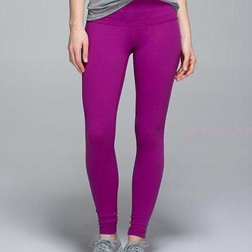 CHEN1ER Lululemon Solid Color Casual Gym Yoga Running Pants Trousers Sweatpants