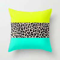 Leopard National Flag XI Throw Pillow by M Studio
