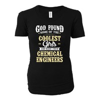 Coolest Girls Become A Chemical Engineers Funny Gift - Ladies T-shirt