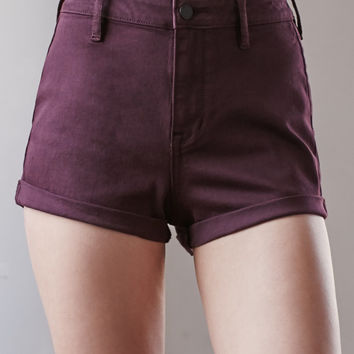Bullhead Denim Co. Plum Super High Rise Tap Denim Shorts at PacSun.com