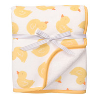 Yellow Duck Boa Blanket