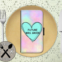 Future Mrs. Grier Pastel Tumblr Candy Heart Cute Nash Wallet Phone Case For iPhone 4 and 4s and iPhone 5 and 5s and 5c iPhone 6 and 6 Plus +