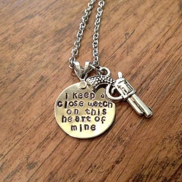 I keep a close watch necklace by kimsjewelry on Etsy
