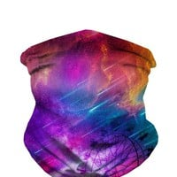 INTO THE AM Galaxy Print Seamless Face Mask Bandanas for Dust, Music Festivals, Raves, Riding, Outdoors - Choose from Many Designs