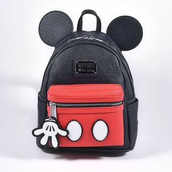 Loungefly Loungefly Black & Red Leatherette Mickey Mouse Suit Mini Backpack