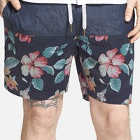 Men's Barney Cools 'Tide 17' Floral Print Drawstring Shorts,