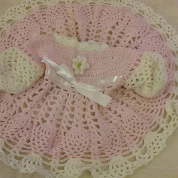 Pink with white pinapple ace baby dress.