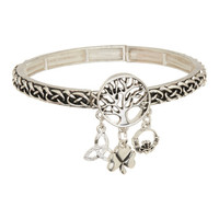 Timeless Irish Treasures Silvertone Tree of Life Charm Stretch Bracelet | zulily