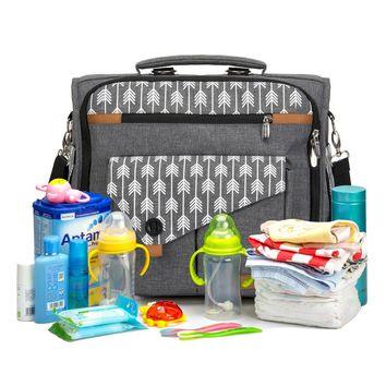 Convertible Backpack and Messenger Diaper Bag