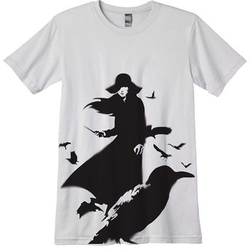 Meiko Kaji T Shirt Airbrushed with stencils sasori by nietoair
