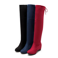 Round Toe Knee High Boots Women Shoes Fall|Winter 6648