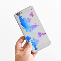 for iPhone 6 Plus - Super Slim Case - Watercolor World Map - Ombre - Wanderlust - Travel