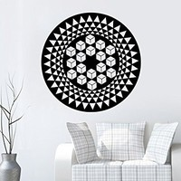 Mandala Wall Decal Yoga Studio Vinyl Sticker Decals Ornament Moroccan Pattern Namaste Lotus Flower Home Decor Boho Bohemian Bedroom NS1042