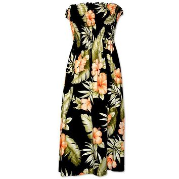 waimea black hawaiian sunkiss dress