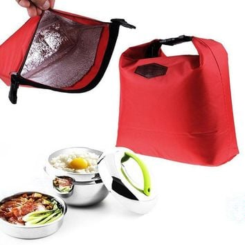 Fashion Portable Thermal Insulated Lunch Bag Cooler Lunchbox Storage Bag Lady Carry Picinic Food Tote Insulation Package