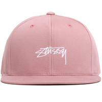 Smooth Stock Enzyme Snapback Hat Rose