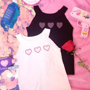 Cute Heart Cut Out Tank Top Cami