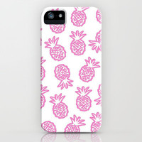 pink pineapple  iPhone Case by Island Art | Society6