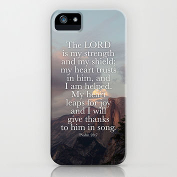 Psalm 28:7 iPhone & iPod Case by Type of Faith