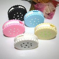 Cute Sweet Cookies Biscuits Series Colored Contact Lenses Box & Case/Contact lens bag Promotional Gift Eyewear Cases