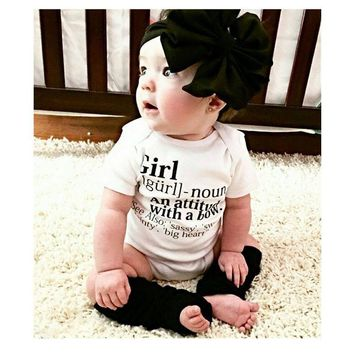 Baby Girls Infant Clothes Rompers Short Sleeve Casual Letter Cotton Romper Outfits Clothing Girl New Arriving