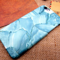 Simple blue marble Phone Case Cover for Apple iPhone 7 7 Plus 5S 5 SE 6 6S 6 Plus 6S Plus + Nice gift box! LJ160926-004