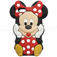 3D Red Cute Cartoon Minnie Mouse Silicon Soft Case For Apple iPhone 5 5C 5S