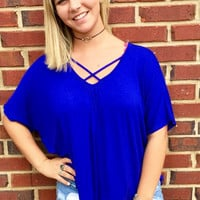Beautifully Basic Top- Blue