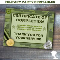 Party Printable Military Army Soldier Boot Camp Placemat Favor in Green Camouflage