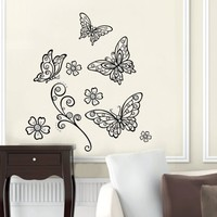 Best Creation Pop-Up 3D Black Crystal Butterfly Wall Sticker