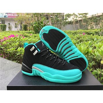 Air Jordan 12 Retro GS Hyper Jade AJ12 Sneakers