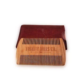 Sandal Wood Dual Beard Comb