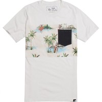 Rip Curl The Buttons Pocket T-Shirt - Mens Tee - Off White -