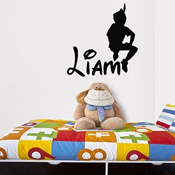 kau415 Peter Pan wall decal, peter pan wall sticker, wall decal nursery,wall decal kids,wall sticker disney,Tinkerbell Pirate Never Grow Up