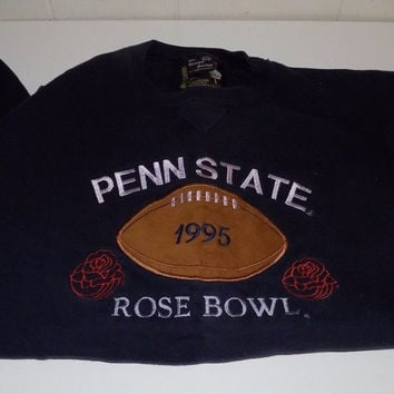 Penn State 1995 Rose Bowl Embroidered Sweatshirt Large