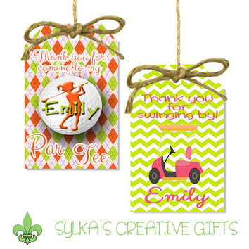 Gift Bag Tags-DIY-Custom-Personalized-Golf Girl